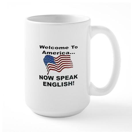 Now Speak English Large Mug