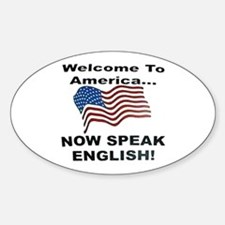 Now Speak English Oval Decal
