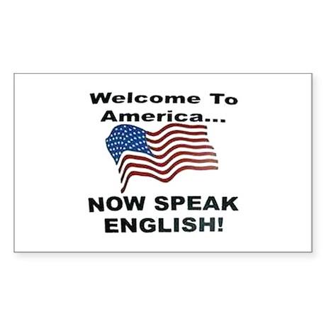 Now Speak English Rectangle Sticker