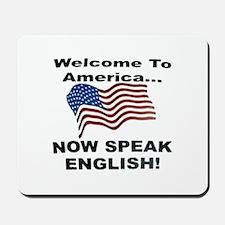 Now Speak English Mousepad