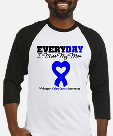 ColonCancerHeart Mom Baseball Jersey