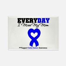 ColonCancerHeart Mom Rectangle Magnet