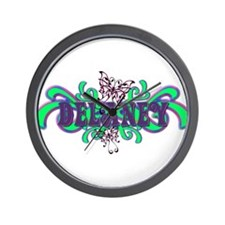 Delaney's Butterfly Name Wall Clock