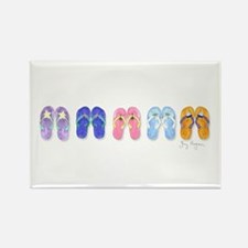 5 Pairs of Flip-Flops Rectangle Magnet