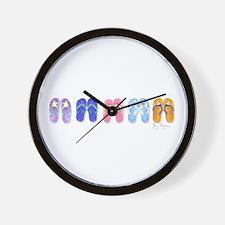 5 Pairs of Flip-Flops Wall Clock