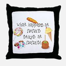 What Happens at Mema's... Throw Pillow