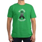 Melanoma Survivor Men's Fitted T-Shirt (dark)