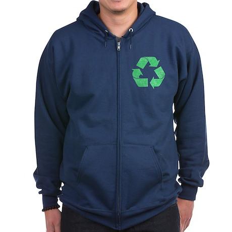 Recycle Symbol Zip Hoodie (dark)
