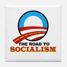 """""""The Road To Socialism"""" Tile Coaster"""