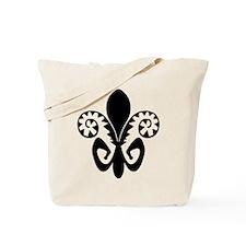 Festive Fleur de lis (BW) Tote Bag