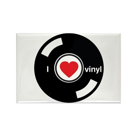 I Heart Vinyl Rectangle Magnet (100 pack)