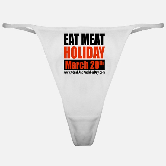 Eat Meat Holiday Classic Thong