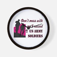 Funny Proud army mom Wall Clock