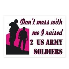Cute Mom army Postcards (Package of 8)