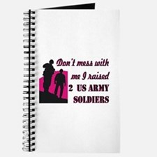 Cute Proud army mom tags Journal