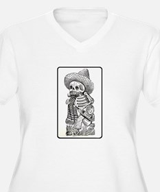 Calavera with Bottle - El Bor T-Shirt