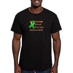 Brain Injury Month Men's Fitted T-Shirt (dark)