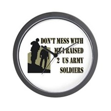 Cute Proud army dad Wall Clock