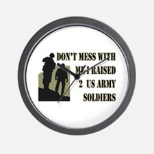 Cool Proud army mom tags Wall Clock