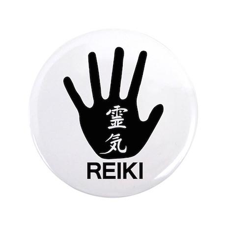 """Reiki Hand 3.5"""" Button (100 pack)"""