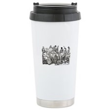 Calaveras on Wheels Thermos Mug