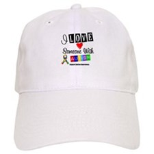 I Love Someone Autism Baseball Cap