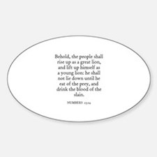 NUMBERS 23:24 Oval Decal