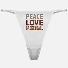 Peace Love Basketball Classic Thong
