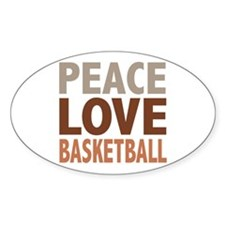 Peace Love Basketball Oval Decal