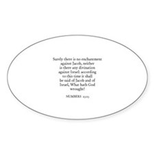 NUMBERS 23:23 Oval Decal