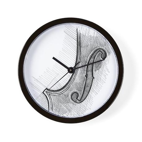 F-hole Wall Clock