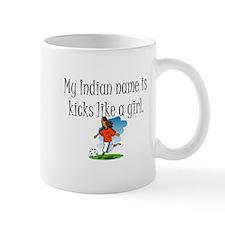 Kicks Like a Girl Soccer Mug
