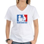 ML Geek Women's V-Neck T-Shirt