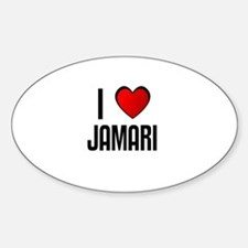 I LOVE JAMARI Oval Decal