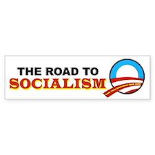 """The Road To Socialism"" Bumper Bumper Sticker"
