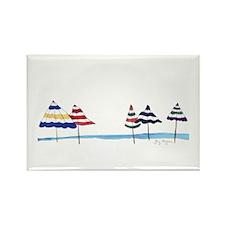 Beach Umbrellas Rectangle Magnet (10 pack)
