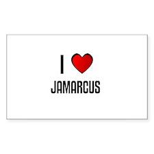 I LOVE JAMARCUS Rectangle Decal