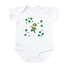 LEPRECHAUN AND SHAMROCKS Infant Bodysuit