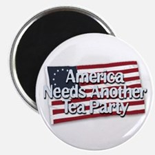 """America Needs Another Tea Party 2.25"""" Magnet (100"""