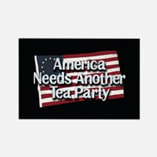 America Needs Another Tea Party Rectangle Magnet