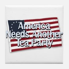 America Needs Another Tea Party Tile Coaster