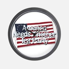America Needs Another Tea Party Wall Clock