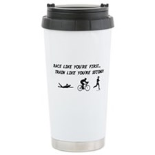Race Like Your First Triathlon Travel Mug