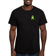 Lime Awareness Ribbon Men's Fitted T-Shirt (dark)