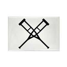 Crutches Rectangle Magnet
