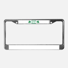 irish girls License Plate Frame