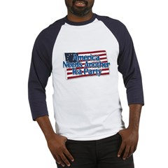 America Needs Another Tea Party v2 Baseball Jersey