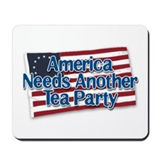 America Needs Another Tea Party v2 Mousepad