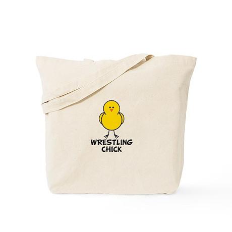 Wrestling Chick Tote Bag