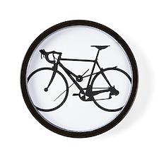 Racer Bicycle black Wall Clock
